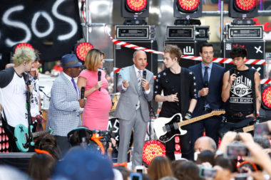 Matt Lauer on stage